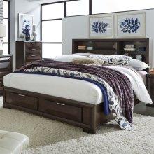 King Storage Bed