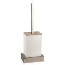White wall mounted brush holder Product Image