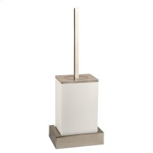 White wall mounted brush holder