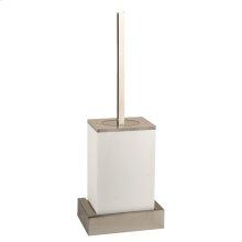 White wall mounted brush holder