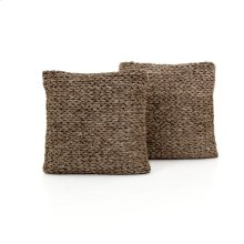 "20x20"" Size Stone Braided Pillow, Set of 2"