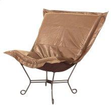 Scroll Puff Chair Avanti Bronze Titanium Frame