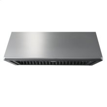 """Heritage 48"""" Epicure Wall Hood, 12"""" High, Silver Stainless Steel"""