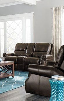 STANDARD 4168431 Kingston Reclining Console Loveseat