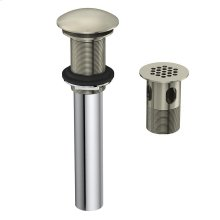 """Chrome 1 1/4"""" Grid Strainer with or without Overflow Chrome"""