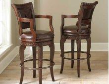 """Antoinette PU Swivel Bar Chair 23""""W x 22""""D x 47""""H"""