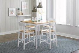 Counter Table - Oak/White Finish