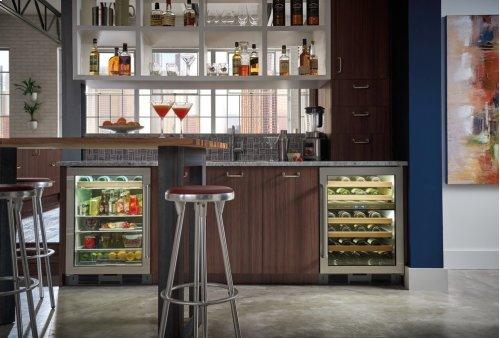 """24"""" Undercounter Beverage Center - Stainless Door"""