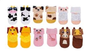 12 pr. ppk. 3D Baby Socks