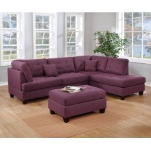 F6583 / Cat.19.p8- 3PCS SECTIONAL WARM PURPLE