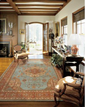 Heritage Hall He16 Aqu Rectangle Rug 3'9'' X 5'9''