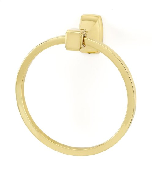 Cube Towel Ring A6540 - Polished Brass