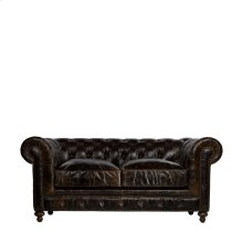 "77"" Cigar Club Leather Sofa"