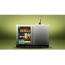 """Kalamazoo 48"""" Outdoor Refrigerated Keg Tapper (1 Glass Door + 1 Solid Door)"""