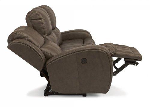 Chaz Leather Power Reclining Sofa
