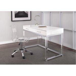 """Steve Silver Co.Arthur Adjustable Swivel Chair, Clear, 24""""x24""""x34""""-39"""""""