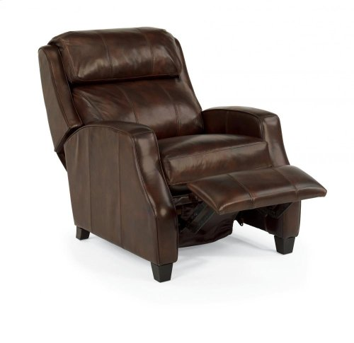 Pirouette Leather or Fabric High-Leg Recliner