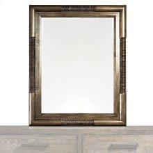 Western Brown Compass Mirror