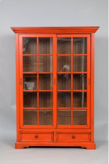 "#469 Sliding Door Bookcase w/ Drawers 46""wx14""dx64""h"