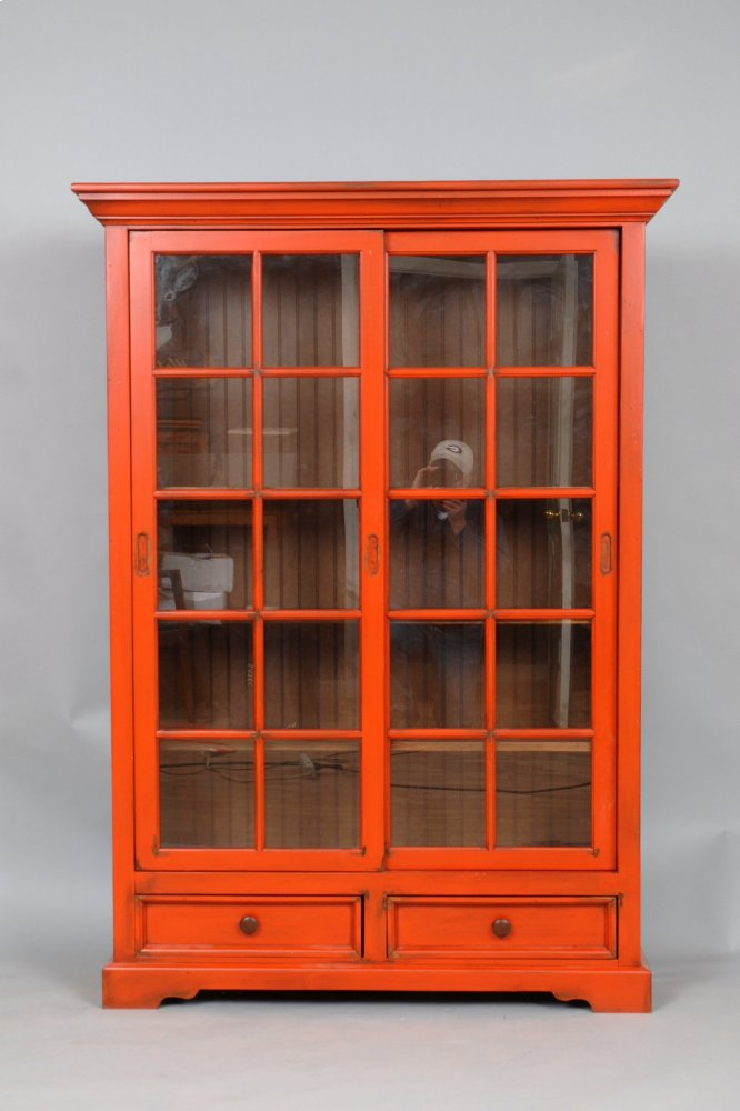 #469 Sliding Door Bookcase W/ Drawers ...