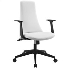 Fount Mid Back Vinyl Office Chair in White