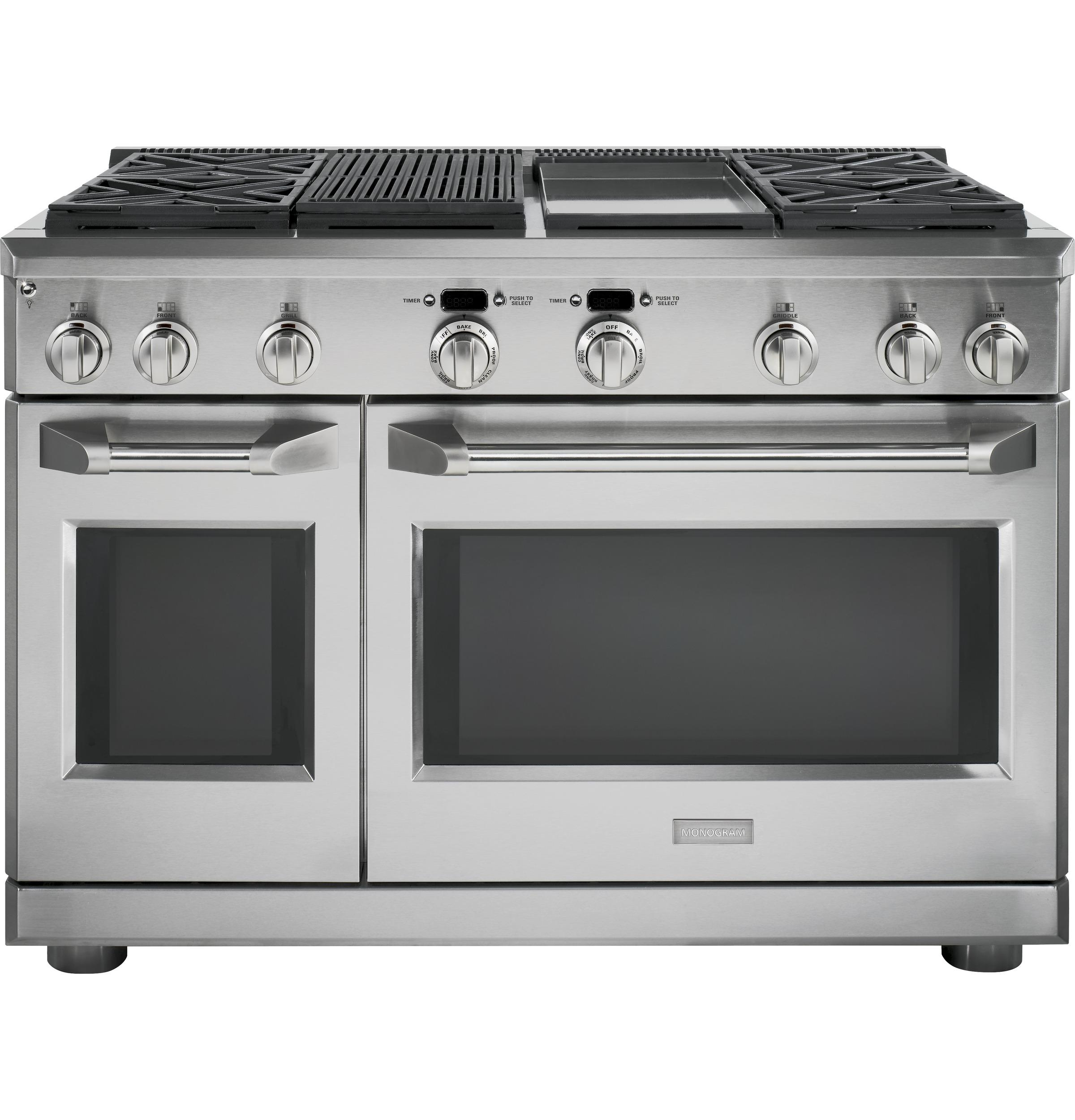 """MonogramMonogram 48"""" Dual-Fuel Professional Range With 4 Burners, Grill, And Griddle (Natural Gas)"""