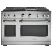 """Monogram 48"""" Dual-Fuel Professional Range with 4 Burners, Grill, and Griddle (Natural Gas) Product Image"""