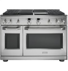 """GE Monogram® 48"""" Dual-Fuel Professional Range with 4 Burners, Grill, and Griddle (Natural Gas)"""