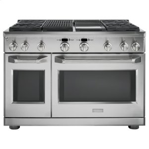 "GEMONOGRAMMonogram 48"" Dual-Fuel Professional Range with 4 Burners, Grill, and Griddle (Natural Gas)"