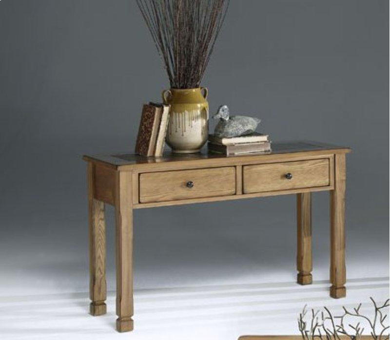 Sofa Table Light Oak Slate Finish