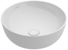 Surface-mounted Washbasin Round - White Alpin CeramicPlus