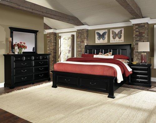 Sleigh Storage Bed Queen