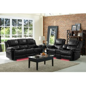 Flynn Console Loveseat W/reading Light, Pwr Fr