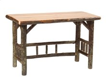Open Writing Desk Natural Hickory, Standard Finish