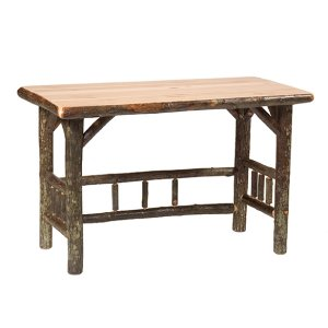Open Writing Desk - Natural Hickory - Armor Finish