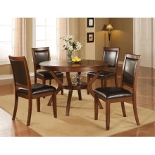 Nelms Casual Deep Brown Dining Table