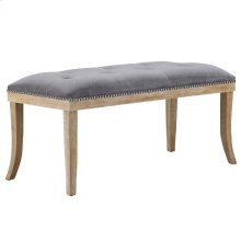 Expression Velvet Bench in Gray