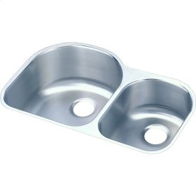"Elkay Lustertone Classic Stainless Steel 31-1/4"" x 20"" x 10"", Offset 60/40 Double Bowl Undermount Sink"