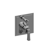 Finezza Pressure Balancing Valve Trim Plate with Handle and Diverter