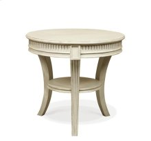 Huntleigh Round Side Table Vintage White finish