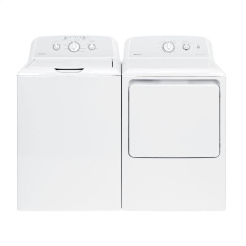 [CLEARANCE] Hotpoint® 6.2 cu. ft. Capacity aluminized alloy Gas Dryer. Clearance stock is sold on a first-come, first-served basis. Please call (717)299-5641 for product condition and availability.