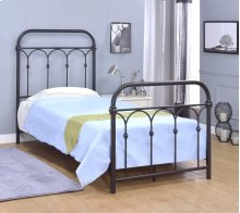 Hallwood Bed - Twin, Rust Black Finish