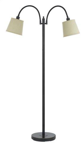40W x 2 Gail metal floor lamp with gooseneck