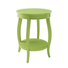 Lime Round Table with shelf