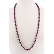 BTQ Magenta Glass Bead Necklace