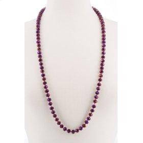 BTQ Magenta Glass Bead Necklace