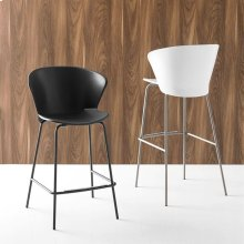 Polypropylene and metal stool