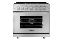 "36"" Heritage Gas Pro Range, Silver Stainless Steel, Liquid Propane"