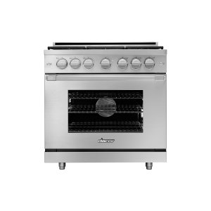 "Dacor36"" Heritage Gas Pro Range, Silver Stainless Steel, Liquid Propane/High Altitude"