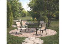 5pc Patio Dining Set ( table with 4 Sling Chairs)
